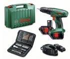 Surubelnita electrica Bosch PSR 1200 + 2 acumulatoare +51 acc -1,2 Ah 060395550U