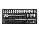 Trusa tubulare 23 piese 1/2 YT-1265
