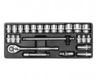 Trusa tubulare 24 piese 1/2 YT-1266