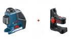 Nivela laser cu linii + suport universal Bosch GLL 2-80 P + BM 1 0601063202