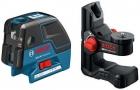 Nivela laser cu puncte/linii si suport universal Bosch GCL 25 + BM 1 0601066B02